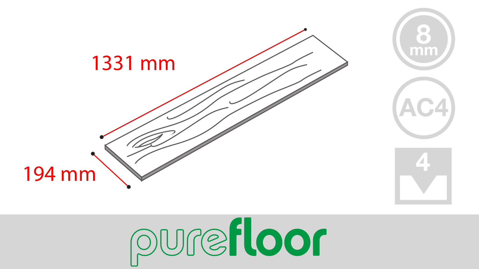PureFloor (8mm Bevelled)