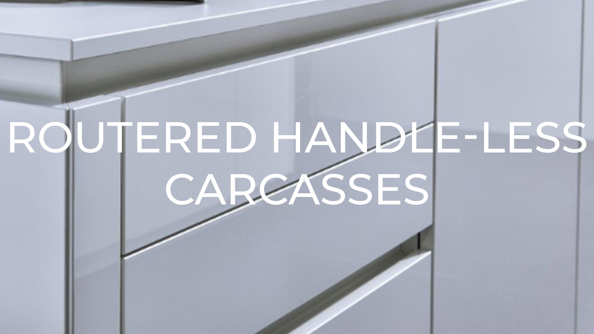 Routed Handle-less Cabinets